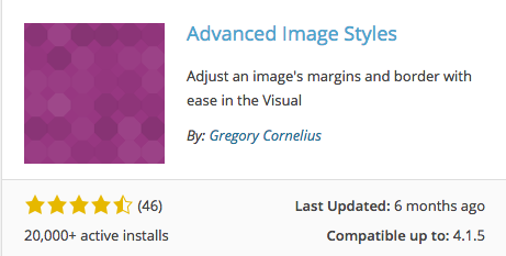 Plugin Review: Advanced Image Styles